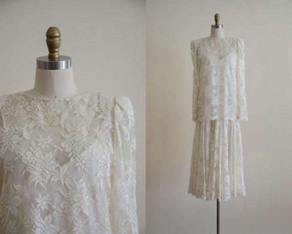 cream lace dress | lace midi dress | lace wedding