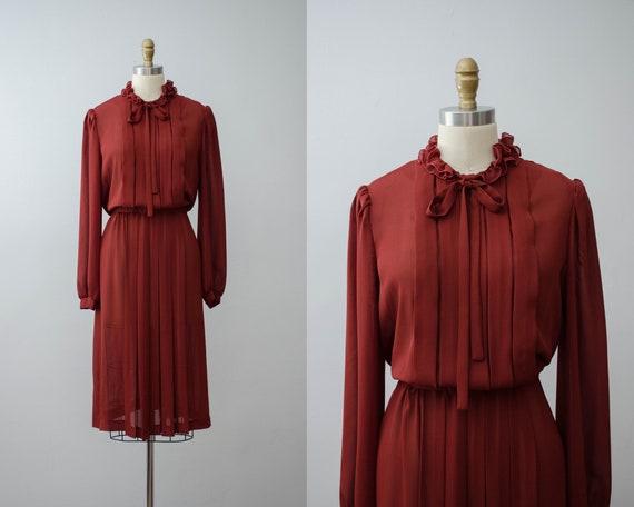 plus size dress   rust secretary dress