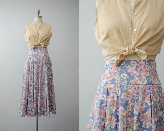 Laura Ashley skirt | floral midi skirt