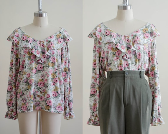 floral poet blouse   long sleeve blouse