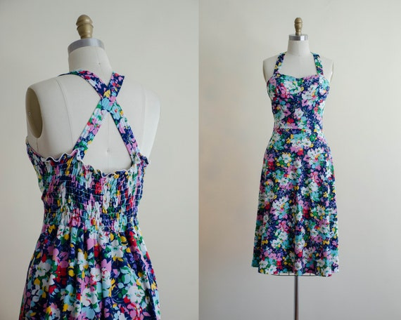 fit and flare dress | vibrant floral dress