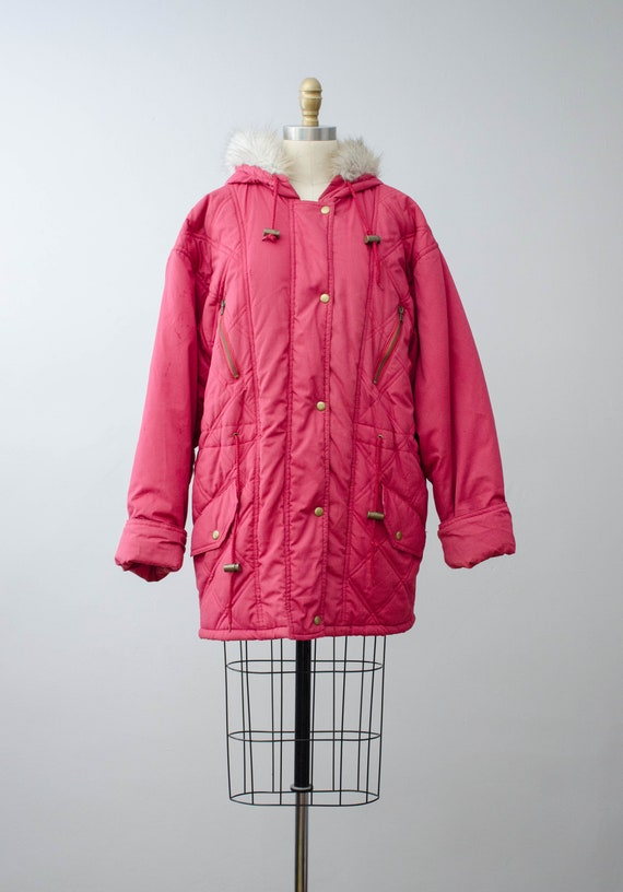 puffy quilted coat   pink quilted jacket   puffer… - image 4