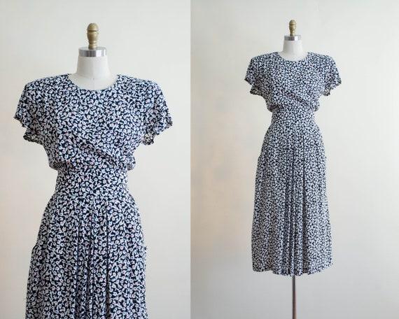 floral midi dress | 1940s style dress
