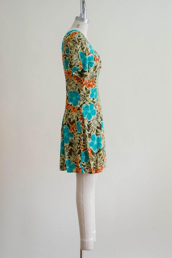 tropical floral romper   short sleeve vintage rom… - image 6