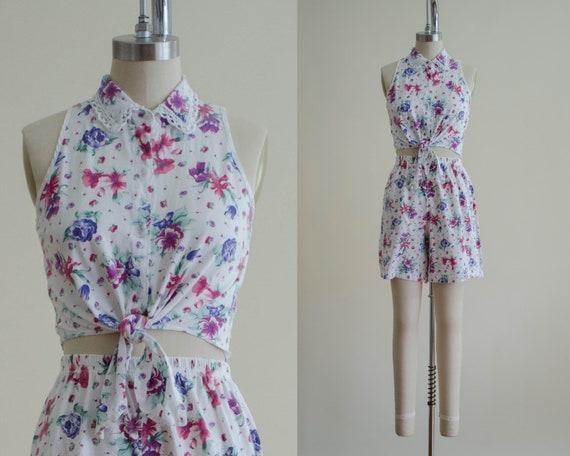 white shorts set | floral shorts set