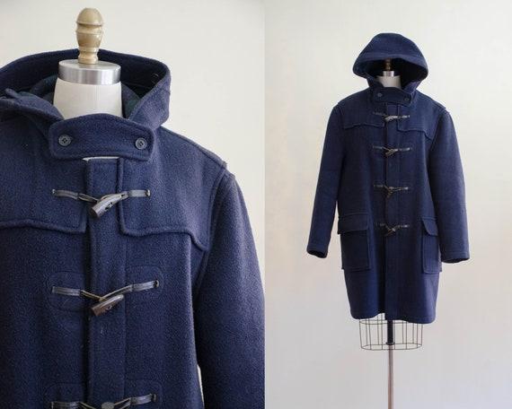 navy duffle coat | men's wool coat | Gloverall coa
