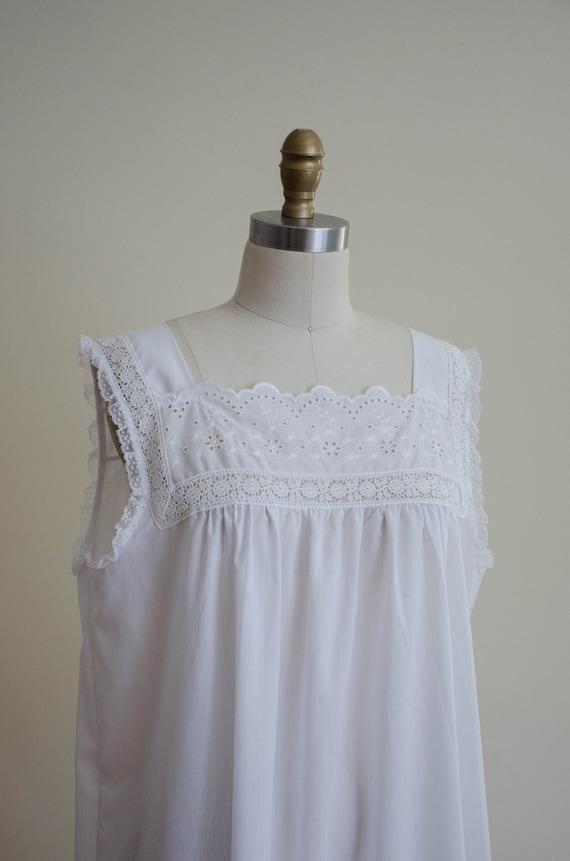 white eyelet nightgown | eyelet lace nightgown - image 3