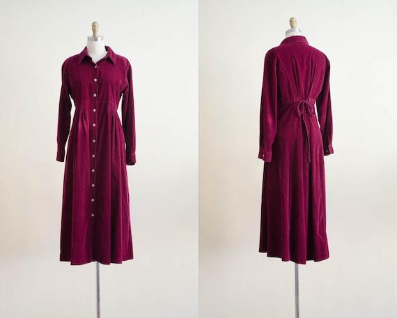 burgundy corduroy dress | oversized dress