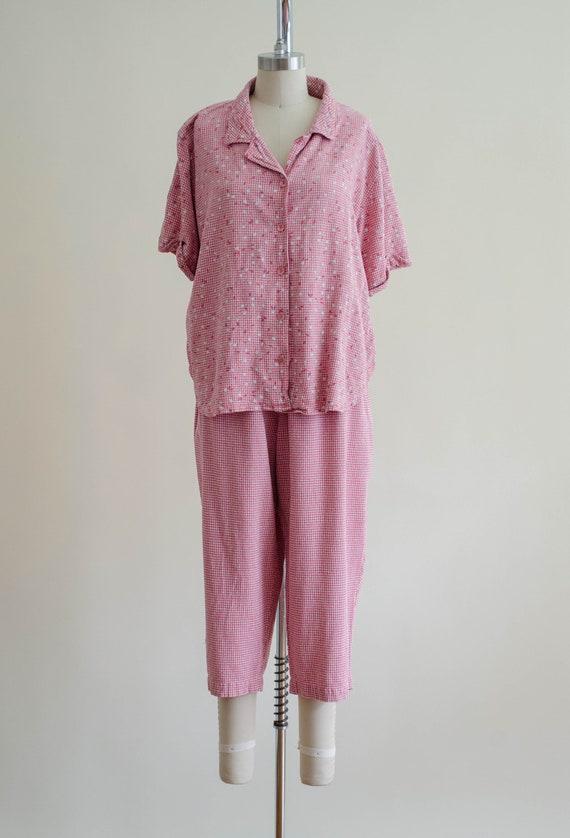 gingham pants set | silk pants set - image 4