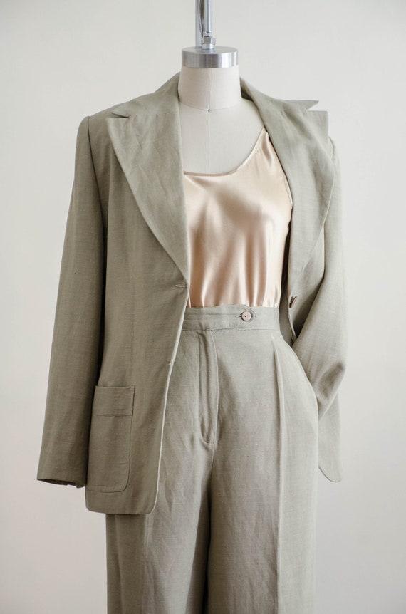 Giorgio Sant'Angelo linen suit   women's beige vi… - image 5