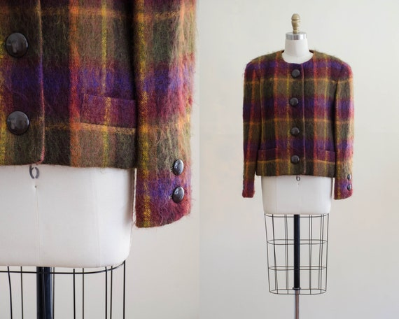 plaid mohair jacket | plaid mohair coat