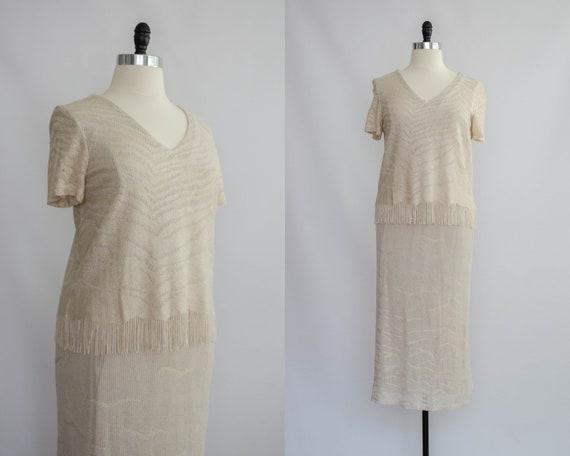 cream crochet dress | short sleeve dress