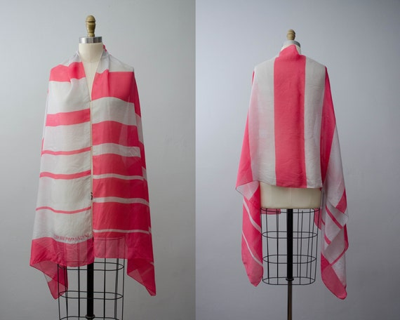 vintage Armani scarf | striped silk scarf | design