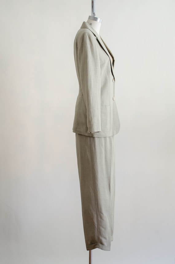 Giorgio Sant'Angelo linen suit   women's beige vi… - image 9