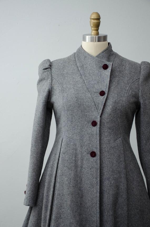 London Fog coat | gray princess coat | wool coat - image 3