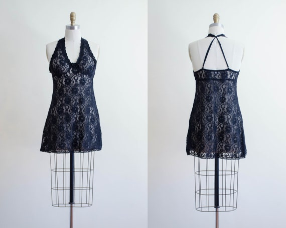 black lace negligee | floral lace negligee