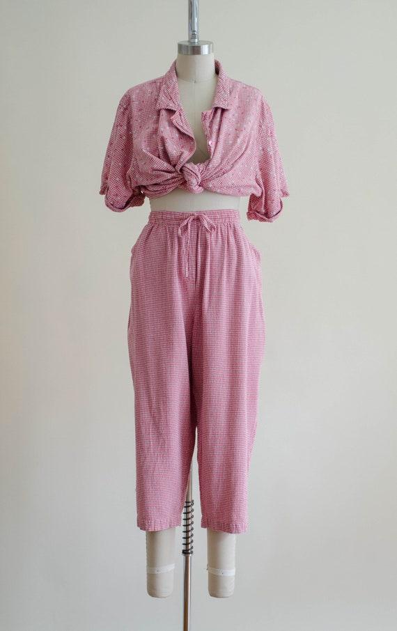 gingham pants set | silk pants set - image 7