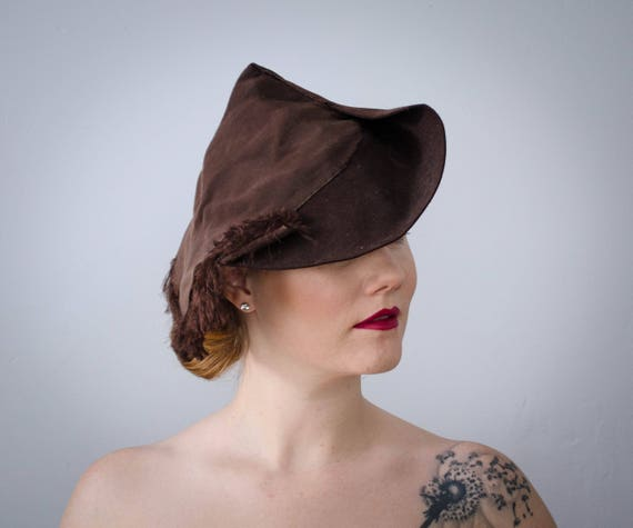 1930s fedora | 1930s slouch hat | brown 1930s hat