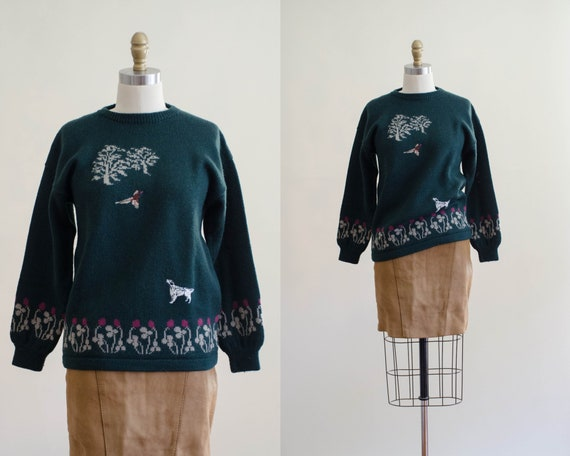 Holland & Holland sweater | green wool sweater | … - image 1