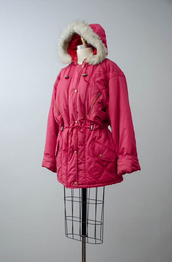 puffy quilted coat   pink quilted jacket   puffer… - image 8