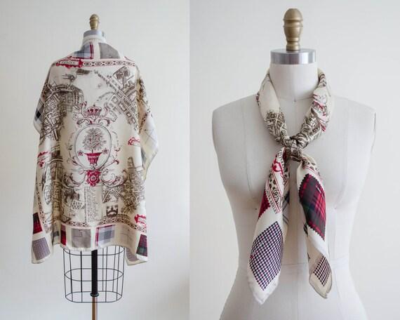 Laura Ashley silk scarf | novelty print scarf | Ol