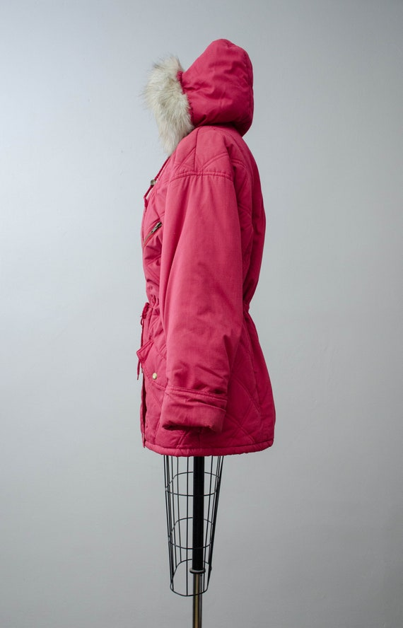 puffy quilted coat   pink quilted jacket   puffer… - image 9