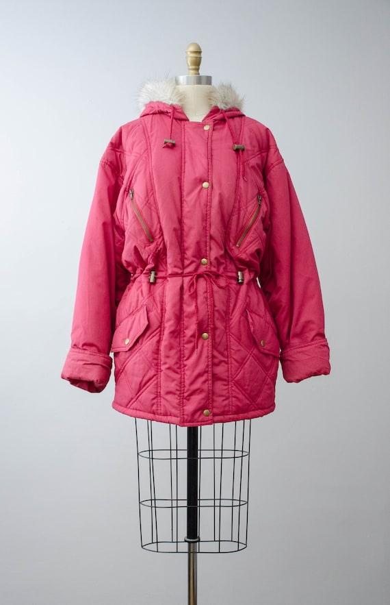 puffy quilted coat   pink quilted jacket   puffer… - image 5