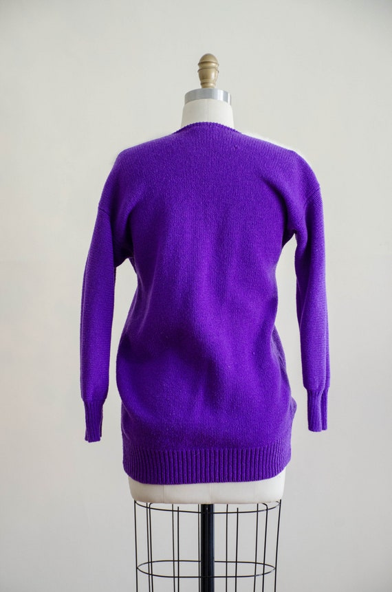 vintage purple fox sweater | fuzzy angora sweater… - image 9