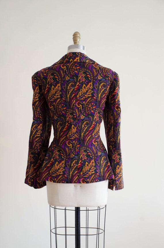 paisley wool blazer   Pauline Trigere blazer - image 6