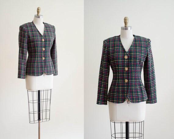 plaid blazer | silk plaid jacket | vintage jacket