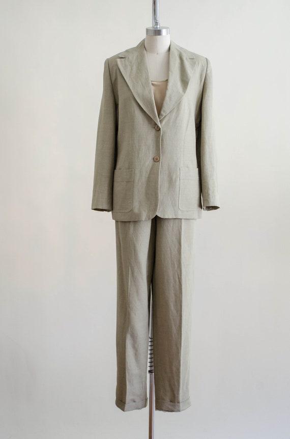 Giorgio Sant'Angelo linen suit   women's beige vi… - image 7