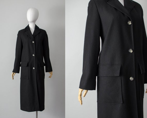 black wool coat | minimal wool coat | oversized wo