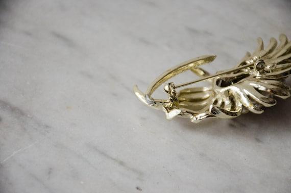 pearl flower brooch | vintage Coro brooch - image 6