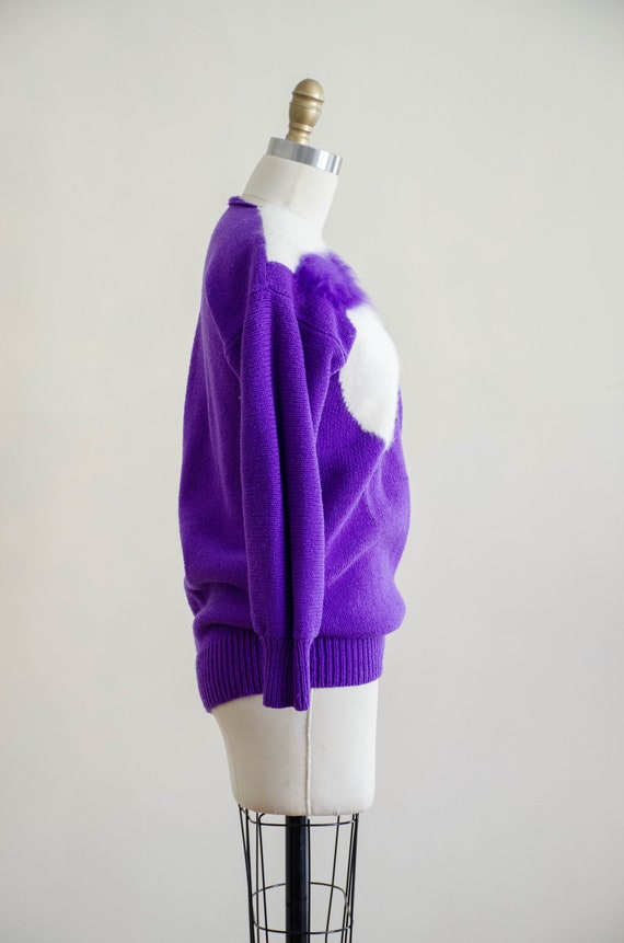 vintage purple fox sweater | fuzzy angora sweater… - image 8