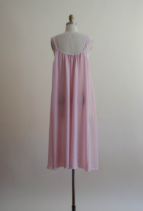 dreamy pink chiffon nightgown | empire waist nigh… - image 7