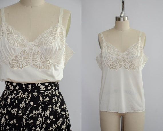 ivory camisole | floral lace camisole