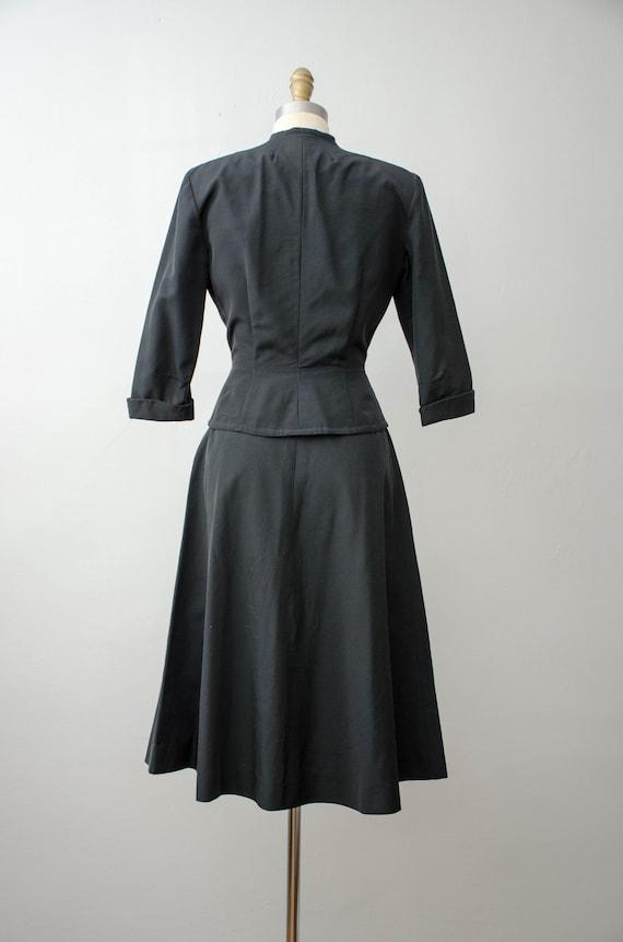 1940s black skirt suit   taffeta skirt suit   Jea… - image 8