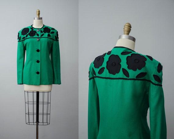green silk jacket | green silk blazer | Carlisle j