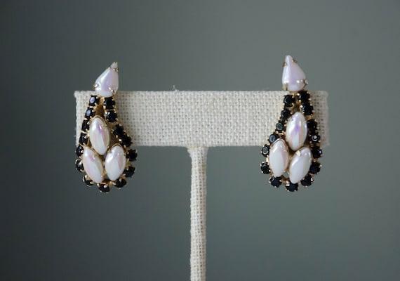 vintage jewelry | vintage earrings | rhinestone ea