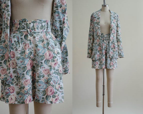 shorts and blazer set | romantic floral set