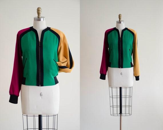 colorblock wool jacket | Lilli Ann wool coat