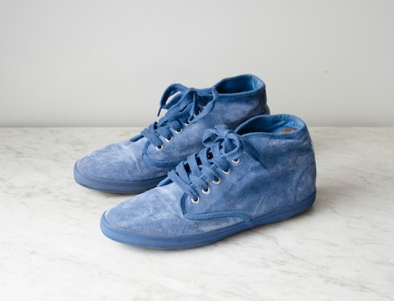 blue suede tennis shoes | blue suede high top snea