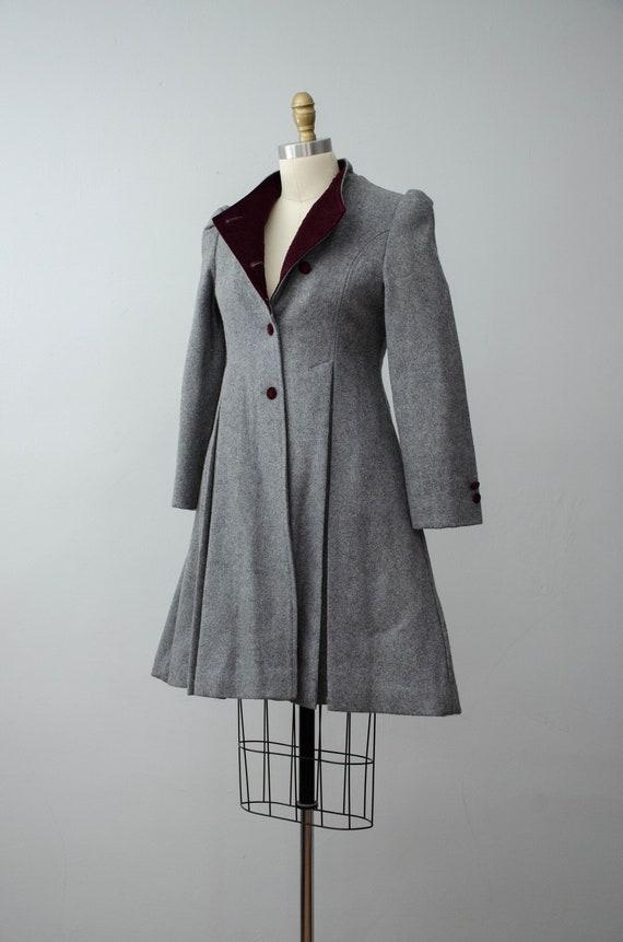 London Fog coat | gray princess coat | wool coat - image 7