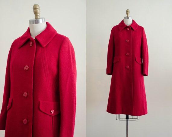 red wool coat   1960s coat