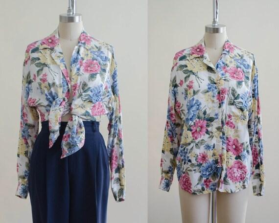 romantic floral blouse | long sleeve blouse