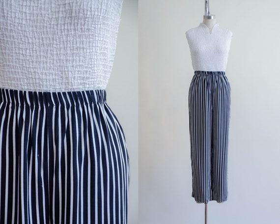 black and white pants | striped lounge pants