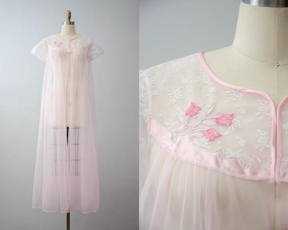 sheer pink robe | pink chiffon robe