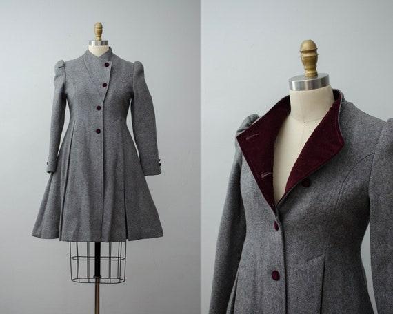 London Fog coat | gray princess coat | wool coat