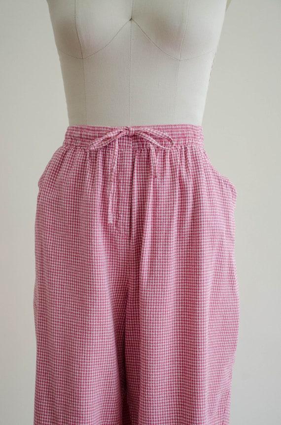 gingham pants set | silk pants set - image 2