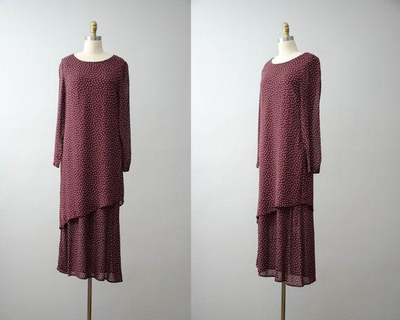 oversized maxi dress | burgundy dress | long sleev